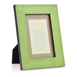 Philip Whitney - Philip Whitney 5X7 Light Green Burl Marquetry Frame - Philip Whitney 5x7 light green burl marquetry picture frame.
