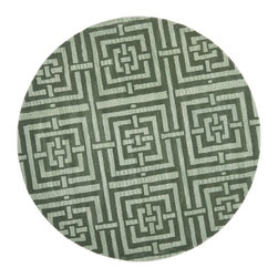 Safavieh - Contemporary Wyndham Round 7' Round Sage Area Rug - The Wyndham area rug Collection offers an affordable assortment of Contemporary stylings. Wyndham features a blend of natural Sage color. Hand Tufted of Wool the Wyndham Collection is an intriguing compliment to any decor.