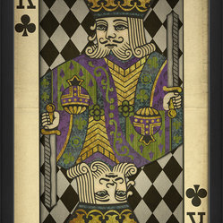 The Artwork Factory - 'King of Clubs' Print - Get lucky with this beautifully detailed, museum quality artwork. Printed on high resolution, acid-free paper, it makes a striking style statement in your favorite setting.