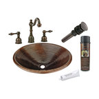 "Premier Copper Products - 20"" Oval Self Rimming Sink w/ ORB Faucet - PACKAGE INCLUDES:"