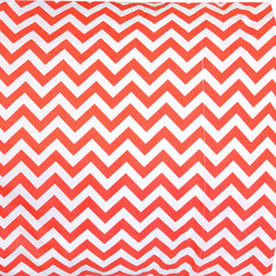 Jonathan Adler - Jonathan Adler Zig Zag Pillowcase Set - Geometric zigzags lend this Jonathan Adler pillowcase set mesmerizing style. In captivating orange and crisp white, the bedding's chevron stripes deliver a graphic punch. 100% cotton percale; 300 thread count; Standard or king sizes; Inserts not included; Machine washable; Final sale