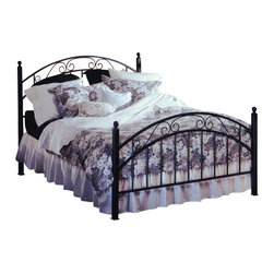Hillsdale - Hillsdale Willow Metal Poster Bed in Matte Black Finish-Queen - Hillsdale - Beds - 1141BQR - Graceful in its design and calming in its effect the Willow Bed has a subtle romance. Classic features include simple metal posts supporting a double-arched design with smooth scrollwork. A practical and attractive addition to your bedroom suite.