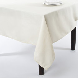 None - Basket Weave Design Tablecloth - This basket weave design faux burlap table clothes will make a perfect finishing touch for any table. Whether for parties and entertaining or daily use,this tablecloth will add refinement in any setting.