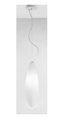 Zaneen - Track 1-Light Suspension Pendant (White) - Color: White. Requires one 150 watt B15d base T4 halogen bulb. 120 V AC voltage supply. Contemporary style. White glass diffuser. Environmental protection rating IP40. North American standard certified. cCSAus safety approved. Made in Italy. 4.75 in. W x 15.75 in. H