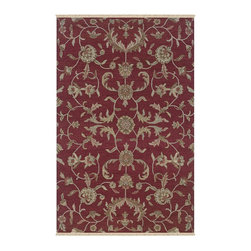 """Rizzy Rugs - Country & Floral Elegance 5'6""""x8'6"""" Rectangle Red Area Rug - The Elegance area rug Collection offers an affordable assortment of Country & Floral stylings. Elegance features a blend of natural Red color. Handmade of 100% New Zealand Wool the Elegance Collection is an intriguing compliment to any decor."""