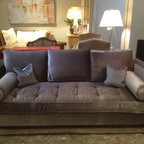Decor NYC Consignment Archive - Custom Mohair by Hamilton Grey Sofa