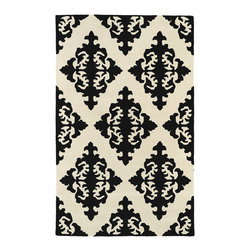 "Kaleen - Kaleen Evolution Collection EVL05-02 5' x 7'9"" Black - The Evolution collection completely embraces the history of classic elegance and traditional expertise of Kaleen Rugs, while perfectly capturing the evolving high fashion and hot new trends of today's design. Dramatic patterns showcasing precise attention to details and a unique twist of color will add the perfect addition to your home. Each rug is Hand-Tufted in India with a 100% soft and luxurious wool."