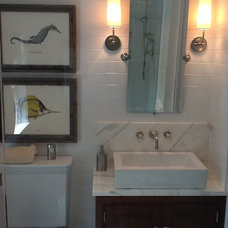 Martha's Vineyard Renovation of 1850 Federal Home - Master Bathroom