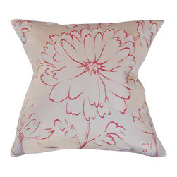 Urban Home Floral Jacquard Autumn Red - Made of High Quality Goose Down. Features a removable cover.
