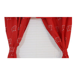 College Covers - NCAA Wisconsin Badgers Drapes Collegiate Window Curtains - Features: