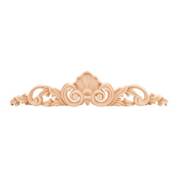 Hardware Resources - Rubberwood Onlays Traditional Onlays and Appliques - Bring visual interest to flat areas with these lovely appliqués. Add your unique touch to a doorway, mantel, window or ceiling. Combine different onlays for endless possibilities and creative whimsy.