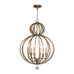 Crystorama Lighting Group - Crystorama Lighting Group 6766 Garland 6 Light Candle Style Chandelier - Features: