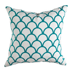 Peacock Scallop Pillow - Price varies by size $60 to $75. 5 sizes available