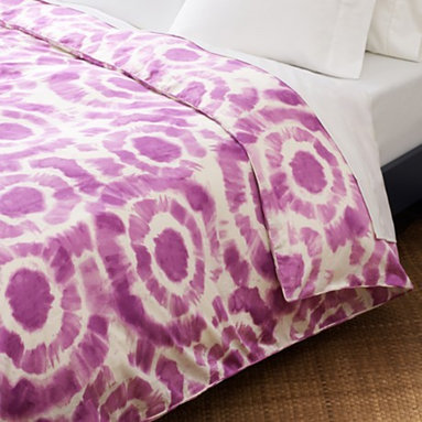"Diane von Furstenberg ""Tie Dye"" King Duvet Cover - If there's an expert on patterns, she's Diane von Furstenberg. I think it's cool that she brought her sense of pattern from fashion to home decor, and I would love to sleep on these sheets."