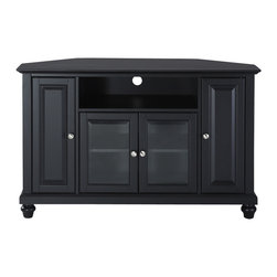 "Crosley - Cambridge 48"" Corner TV Stand - Dimensions:  18 x 47.8 x 29 inches"