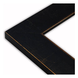 The Frame Guys - Wide Modern Black/Gold Picture Frame-Solid Wood, 10x10 - *Wide Modern Black/Gold Picture Frame-Solid Wood, 10x10