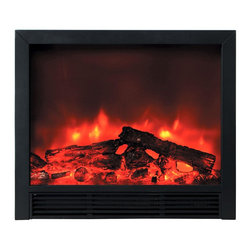 Yosemite Home Decor - Yosemite Home Decor DF-EFP765 Widescreen Floor Standing Electric Fireplace - Bla - The DF-EFP765 electric fireplace from Yosemite Home Decor is a modern and stylish addition to your home. The unit comes in a black finish. It has a clear and exceptionally big clear screen where you can enjoy the beauty of the flames. The flames are aesthetically enhanced with the use of faux logs. This model is floor standing and can easily be put against the wall.
