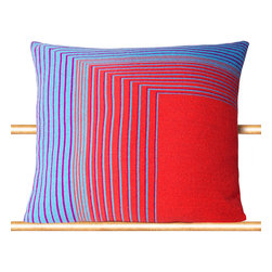 """Tabula Rasa - Isoline Pillow in Hot Coral - 20"""" x 20"""" - Tabula Rasa - Tabula Rasa defined as """"Blank Slate"""" is conceived of the concept that any space we inhabit should be a template to express personal style beyond clothing and a vessel for the comforts and luxuries of your actual home - wherever that may be.  Be it a bedroom, weekend cabin or studio, Tabula Rasa brings your own space along with you.  No place should be a barrier to style and you should never travel without yourself."""