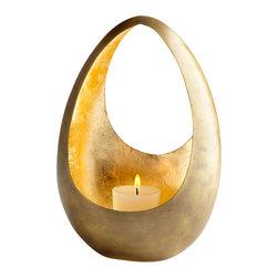 Cyan Design - Ceres Candleholder - Antique Brass and Gold Leaf - Ceres candleholder.