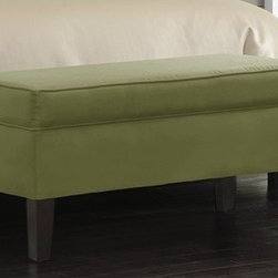 """Skyline Furniture - Bedroom Storage Ottoman - Luxurious, beautiful, and functional, this Storage Bench will provide your bedroom with ultimate comfort and elegance. This storage bench includes plenty of storage space to help you stay organized, and will be a perfect fit in any decor! Features: -Pine wood frame.-Rubberwood legs.-100% Microdenier upholstery.-Polyurethane foam padding.-Spot clean only.-STo prevent overall soil, frequent vacuuming or light brushing to remove dust and grime is recommended. Spot clean using a mild water-free solvent or dry cleaning product. Clean only in a well ventilated room and avoid any product containing carbon tetrachloride which is highly toxic. Pretest small area before proceeding. Cleaning by a professional furniture cleaning service only is recommended..-Collection: Storage.-Distressed: No.-Country of Manufacture: United States.Dimensions: -Overall Product Weight: 30 lbs.-Overall Height - Top to Bottom: 20"""".-Overall Width - Side to Side: 39"""".-Overall Depth - Front to Back: 18""""."""