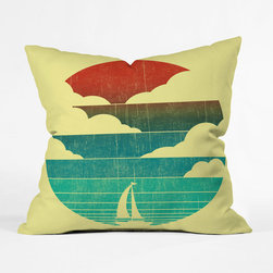 Sunset Throw Pillow Cover - Sail away into the sunset. Featuring a striking design, the Sunset Throw Pillow Cover will bring a spirit of nautical adventure to your home.