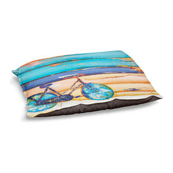 "DiaNoche Designs - Dog Pet Bed Fleece - The Proper Use of the Kickstand - DiaNoche Designs works with artists from around the world to bring unique, designer products to decorate all aspects of your home.  Our artistic Pet Beds will be the talk of every guest to visit your home!  BARK! BARK! BARK!  MEOW...  Meow...  Reallly means, ""Hey everybody!  Look at my cool bed!""  Our Pet Beds are topped with a snuggly fuzzy coral fleece and a durable underside material.  Machine Wash upon arrival for maximum softness.  MADE IN THE USA."