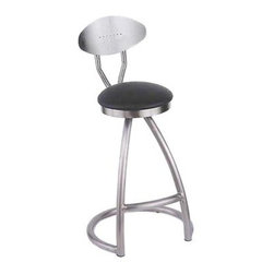 Holland Alpha 30 in. Swivel Bar Stool - Take interior bar seating into the next era with the Holland 30-Inch Alpha Swivel Bar Stool. Ultra-modern in design this stool uses negative space to create a truly arresting look. An A-frame front is ingeniously supported by the rounded base arc. Choose from a myriad of cushioned seats or smooth finished wood options to complement the stainless steel frame. All seats swivel for an added element of fun. The back rest is simple and finishes the look of stool appropriately. Please note: This item is not intended for commercial use. Warranty applies to residential use only. About Holland Bar Stool Co: Built to last a lifetime Great American Barstools are manufactured by Holland Hardwoods. Each stool is hand-assembled and finished by skilled craftsmen at the company's plant in Holland Mich. Founded more than 15 years ago Holland is proud of its commitment to the highest-quality products and excellent customer service. Barstools are available for both home and commercial use in a wide variety of styles and finishes. You will find exactly what you need with great american bar stools and our other product lines.