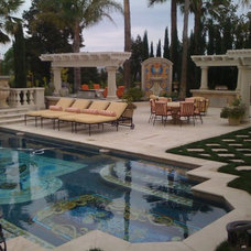 Mediterranean Pool by christopher Lines & Associates