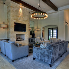 Contemporary Living Room by Rock Bottom Tile and Stone LLC