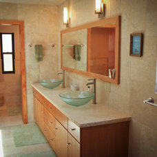 Transitional Bathroom by SOD BUILDERS, INC.