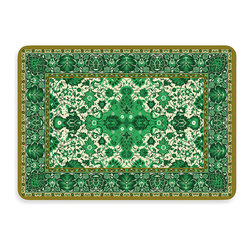 Bungalow Flooring New Wave Tabriz Green Doormat - Fancy rugs aren't just for your living room anymore! Bring luxury to life on your front porch and delight your guests with this doormat.