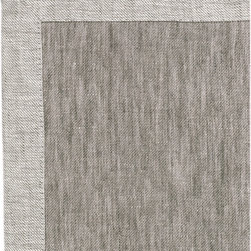 Libeco - Frascati Napkin, choice of five colors  (set of two), Grey - This beautiful two-tone linen collection is made of a very supple, reversible twill quality. Table cloths feature an 8 cm mitered border and the napkins and table runners have a 3 cm mitered border.  Available in fig, flax, gold, grey and white.   The Frascati line includes tablecloths, table runners, dinner napkins and cocktail napkins.