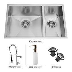 Vigo - Vigo Undermount Stainless Steel Kitchen Sink, Faucet, Two Strainers and Dispens - Vigo keeps your needs in mind when it comes to kitchen essentials.