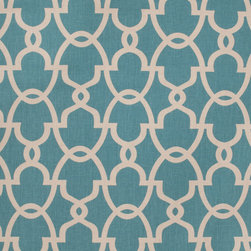 Fabricut - Lifehouse Fabric, Teal - Lifehouse comes in two fresh color-ways and is suited for drapery, bedding, pillows and light upholstery.
