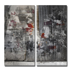 Ready2HangArt - Ready2hangart Alexis Bueno Abstract 2-Piece' Canvas Wall Art - This oversized abstract canvas art set is the perfect addition to any contemporary space. It is fully finished, arriving ready to hang on the wall of your choice.