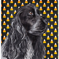 Caroline's Treasures - Cocker Spaniel Halloween Candy Corn Glass Cutting Board Large - Large Cutting Board .. . Made of tempered glass, these unique cutting boards are some of your favorite artists prints. 15 inches high and 12 inches long, they will beautify and protect your counter top. Heat resistant, non skid feet, and virtually unbreakable!