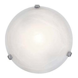 "Access Lighting - Access Lighting Nimbus 12"" Alabaster Glass Contemporary Flush Mount Ceiling Ligh - The round shaped Access Lighting Nimbus Alabaster Contemporary flush mount ceiling light makes a lasting accent to the room. It gives freshness and a spacious feel to any room. The ceiling light is a lovely addition to the room if making changes or updating the room settings."