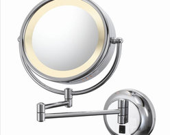 Aptations - Kimball & Young 95345Hw Wall Mirror - Kimball & Young 95345Hw Double-Sided Wall Mirror - Hardwire 5X / 1X Chrome