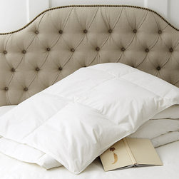 Ballard Designs - Luxury Down Alternative Comforter - Down-like warmth & loft. Crisp 100%, 230-thread-count cotton. Machine washable & dryable. Made in America. This silky, hypoallergenic Comforter has been chosen by some the world's finest hotels and resorts as the best down alternative you can buy. Specially engineered luxury down alternative fiber, PrimaLoft mimics the softness and support of down bedding to ensure a great night's sleep. Quilted end-to-end to keep down from shifting during sleep.Luxury Down Alternative Comforter features:.  . . .