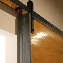 Sliding Doors: Reclaimed Wood & Raw Steel - Custom Sliding Doors