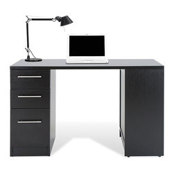Jesper Office - Jesper Office Study Desk with Drawers and Bookcase - Study in style with this handsome study desk. Its three drawers and shelf give you space to store and organize your office supplies. The desk is made of sturdy wood that will last for years,and its espresso color makes it a good match for any decor.
