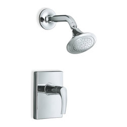KOHLER - KOHLER K-T18489-4-CP Symbol Rite-Temp Pressure-Balancing Shower Faucet Trim in C - KOHLER K-T18489-4-CP Symbol Rite-Temp Pressure-Balancing Shower Faucet Trim in ChromeThe simple, elegant European design of Symbol faucets feature a seamless, one-piece design with a subtly curved silhouette that pays homage to the longstanding tradition of European design and craftsmanship.KOHLER K-T18489-4-CP Symbol Rite-Temp Pressure-Balancing Shower Faucet Trim in Chrome, Features:• Premium material construction for durability and reliability