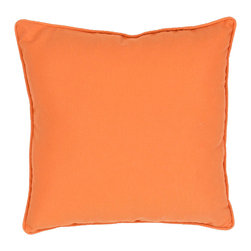 """Jaipur Rugs - Orange color polyester fresco poly fill pillow 17""""x17"""" - These fashion forward pillows, in trellis, stripes and whimsical patterns are for both indoor and outdoor use."""