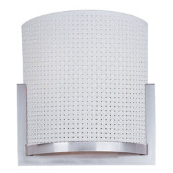 ET2 - ET2 E95080-100 1 Light Wall Sconce Elements Collection - Contemporary / Modern 1 Light Wall Sconce from the Elements CollectionThe Elements Collection offers the freedom of choice in lighting design. Start with the style selection: pendant, mini pendant, or wall sconce; then choose the right shape, square or circular, for the space. Wrap the lamp in one of four fabrics that will make just the right statement: Grass Cloth, White Weave, White Pleat, or Crimson. Finally, choose the perfect light source for the task. Whether fluorescent, xenon, or incandescent, this collection brings together all the right elements.Features:
