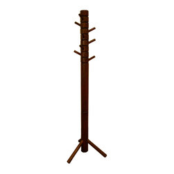 Farmhouse Coat Tree - This Farmhouse Coat Tree was designed to have the wooden traditional country feel. It is crafted and painted with lead-free non toxic paint and made out of 100% solid wood.