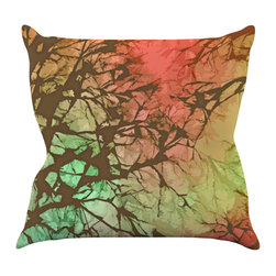 "Kess InHouse - Alison Coxon ""Fire Skies"" Throw Pillow (20"" x 20"") - Rest among the art you love. Transform your hang out room into a hip gallery, that's also comfortable. With this pillow you can create an environment that reflects your unique style. It's amazing what a throw pillow can do to complete a room. (Kess InHouse is not responsible for pillow fighting that may occur as the result of creative stimulation)."