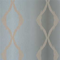 Walls Republic - Winding Grey R2419 - Winding is a large scale twisting linear striped wallpaper. With a simple pattern it will add a sense of rhythm and movement to your home. Use it in your hallway or office to add vibrancy.