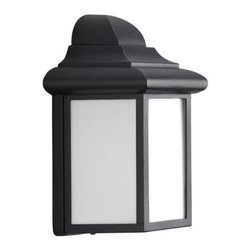 Progress Lighting - Progress Lighting 1-Light Energy Efficient Compact Fluorescent Wall... - Progress Lighting 1-Light Energy Efficient Compact Fluorescent Wall Lantern, Black A classic wall lantern with transitional flare. Matte white acrylic diffuser for durable performance paired with a rugged aluminum housing. Utilizing a energy-efficient compact fluorescent light source (not included), this fixture is rated for use in wet locations and complies with California Title-24 requirements. 1-Light energy efficient CFL Wall Lantern with transitional styling and a Black finish. Product Measures: 4.6 x 5.8 x 8.8 IN