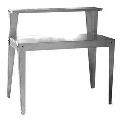 Buffalo Tools - Multi-Use Steel Table Work Bench - Multiple-use Table can be used indoors or out. Great for commercial use. Use as a serving station in the dining room , or as a coffee station in the break room. Weather resistant. Resist rust from rain and snow and damage from sun and heat. Constructed of durable galvanized steel. 30 in. table height. Overall Dimensions: 44 in. L x 24 in. W x 44 in. H (30 lbs)Use this durable galvanized Metal Table almost anywhere. The AmeriHome Multi-Use Steel Table/Work Bench can be used as a potting bench in the garden, or as a table next to the BBQ. The versatile Work Bench can be put in the garage, basement, or workshop to have space to work on home repairs and hobby projects. The Metal Table can increase the surface area in your kitchen for prep work, and double as a serving station during a party or holiday dinner. The Table/Work Bench works well in commercial applications too, store tools, supplies and equipment, or use a coffee station in the break room.