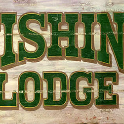 Red Horse Signs - Vintage Fishing Lodge Sign Rustic Cabin Signs - Vintage  Fishing  Lodge  Sign  -  Rustic  Cabin  Signs    Here's  a  rustic  vintage  fishing  lodge  sign  that  will  add  classic  rustic  style  to  any  room.  Sign  measures  9x16.    Printed  directly  to  distressed  wood  with  all  the  knots  and  imperfections  of  weathered  wood.  Features  green  lettering,  Fishing  Lodge  with  rustic  look.  Please  allow  up  to  three  weeks  for  delivery.    Product  Specifications:          Rustic  Lodge  Sign    Finished  size:  9x16    Printed  directly  to  distressed  wood